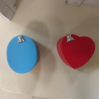 КОРОБОЧКА С МИШКОЙ футляр пластиковый под кольцо, серьги