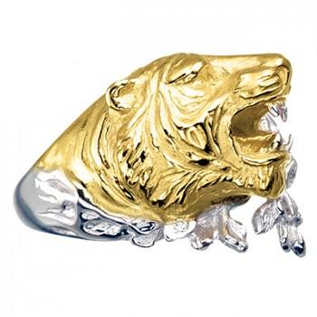 ТИГР кольцо из золота с бриллиантами