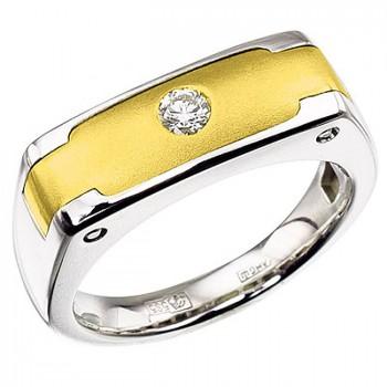 ГРАНД кольцо из золота с бриллиантом