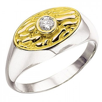 АНТИК кольцо из золота с бриллиантом