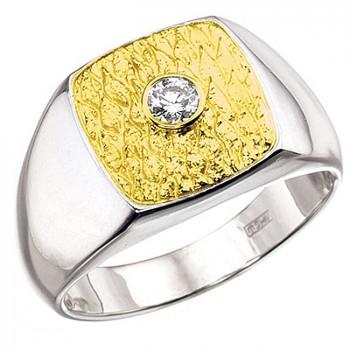 ПЕРС кольцо из золота с бриллиантом