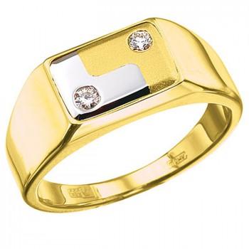 РЕСПЕКТ кольцо из золота с бриллиантами