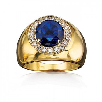 ПРЕМЬЕР кольцо из золота с бриллиантами и корундом
