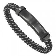 Мужской кожаный браслет с вставкой бриллианта BORSARI BR-M.CARLO 01