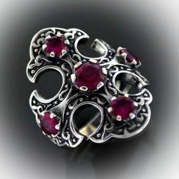 ЯРОСЛАВ кольцо мужское из серебра с фианитами