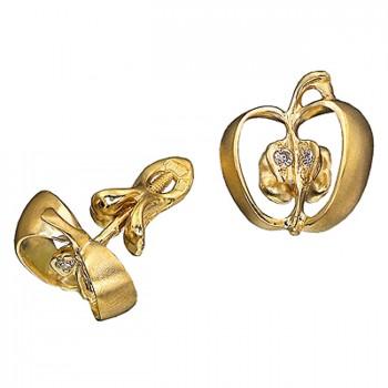 РАЙСКИЕ ЯБЛОЧКИ серьги из золота с бриллиантами