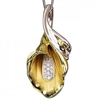 ЗОЛОТАЯ ЧАША подвеска из золота с бриллиантами
