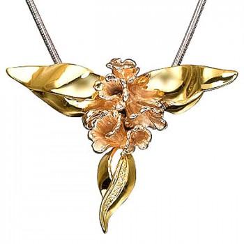 ГОРНАЯ ЛАВАНДА подвеска из золота с бриллиантами
