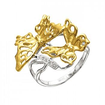 БАБОЧКА АЖУРНАЯ кольцо из золота с бриллиантами