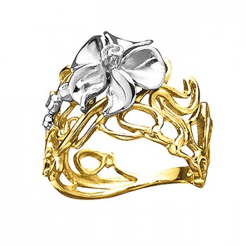 ЛЕСНАЯ НИМФА кольцо из золота с бриллиантами