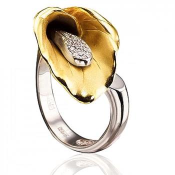ЗОЛОТАЯ ЧАША кольцо из золота с бриллиантами