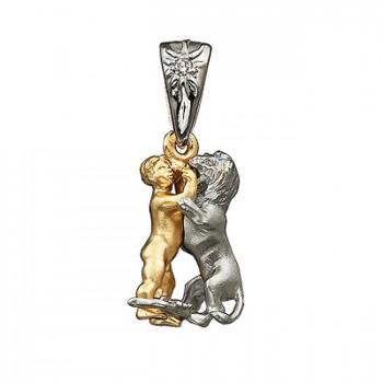 ЗВЕЗДНАЯ ФЕЕРИЯ: ЛЕВ подвеска из золота с бриллиантом