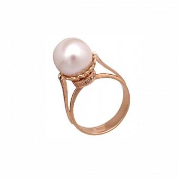 КОРОНА кольцо из золота с жемчугом и бриллиантами