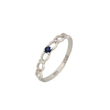 КОСИЧКА кольцо из золота с сапфиром и бриллиантами