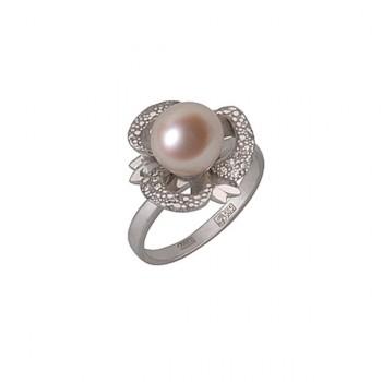 ШАРМ кольцо из золота с жемчугом и бриллиантами