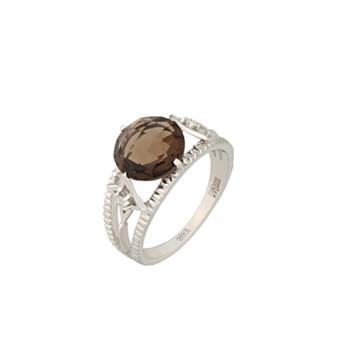 ПОЛЯРНАЯ ЗВЕЗДА кольцо из золота с раухтопазом и бриллиантами