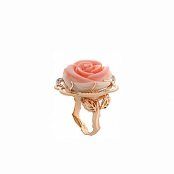РОЗОВОЕ ВДОХНОВЕНИЕ кольцо из золота с перламутром и бриллиантами
