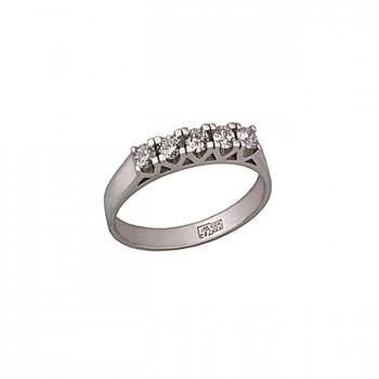 АЖУРНАЯ ДОРОЖКА кольцо из золота с бриллианатами