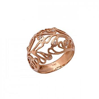 БЕЛЫЙ ОЛЕАНДР кольцо из золота с бриллиантами