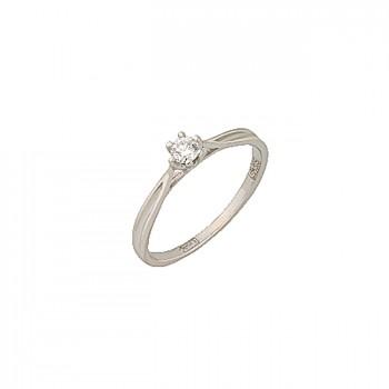 КЛАССИКА кольцо из золота с бриллиантом