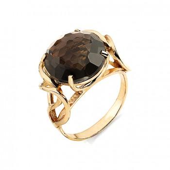 ОСТРОВ кольцо из золота с раухтопазом