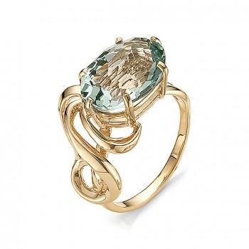 ПЛУТОНИЙ кольцо из золота с аквамариновым кварцем