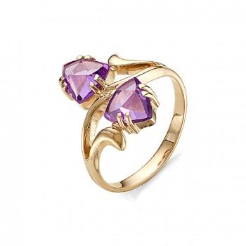 ЭДНА кольцо из золота с аметистами