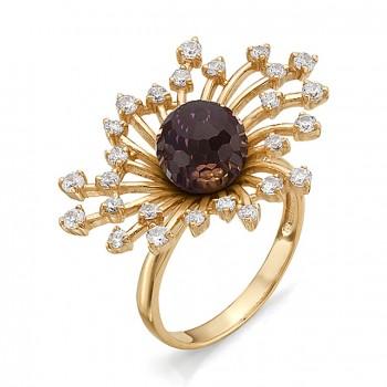 КАССИОПЕЯ кольцо из золота с аметрином и фианитами