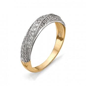 ИНЕССА кольцо из золота с фианитами