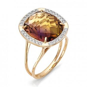 ВИСКОНТИЯ кольцо из золота с аметрином и фианитами