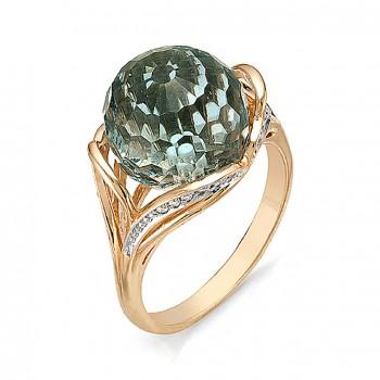 ВЕЧНОСТЬ кольцо из золота с аквамарином и фианитами