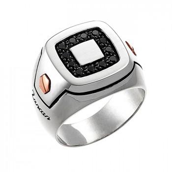 ZANCAN LUXE кольцо из золота и серебра