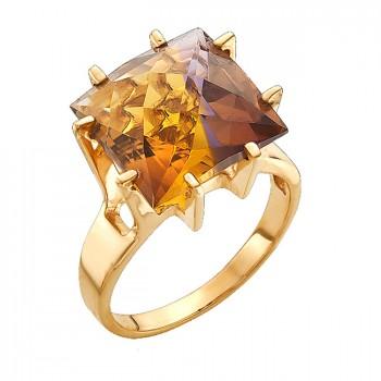 ШОКОЛАД кольцо из золота с аметрином