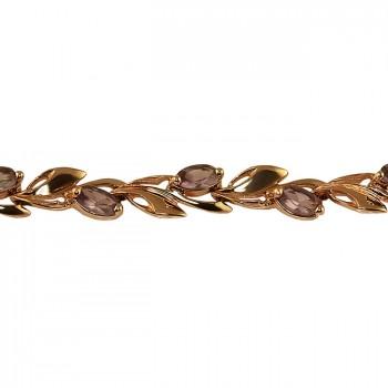 АЛЕКСАНДРА женский золотой браслет с александритом