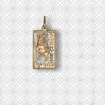 ТЕЛЕЦ подвеска — гороскоп из золота