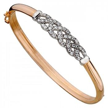 ЛЮБОВНЫЕ УЗЫ браслет из золота с фианитами