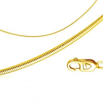 СНЕЙК цепь из жёлтого золота