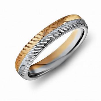 ОБРУЧАЛЬНОЕ кольцо из золота двухсплавное