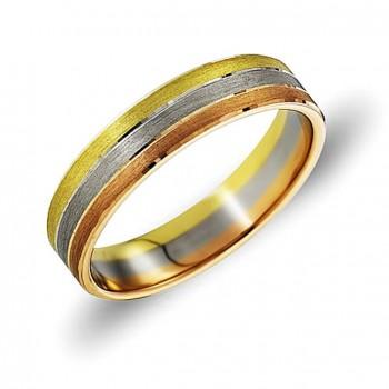 ОБРУЧАЛЬНОЕ кольцо из золота трёхсплавное