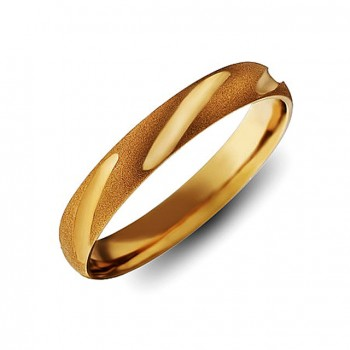 ОБРУЧАЛЬНОЕ кольцо из золота с алмазной гранью Люкс