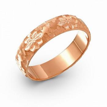ОБРУЧАЛЬНОЕ кольцо из золота с алмазной гранью