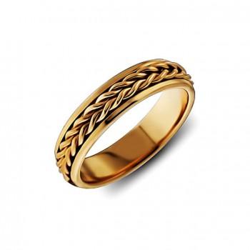 ОБРУЧАЛЬНОЕ кольцо из золота ручной работы
