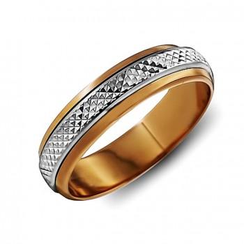 ОБРУЧАЛЬНОЕ кольцо из золота с вращающейся вставкой
