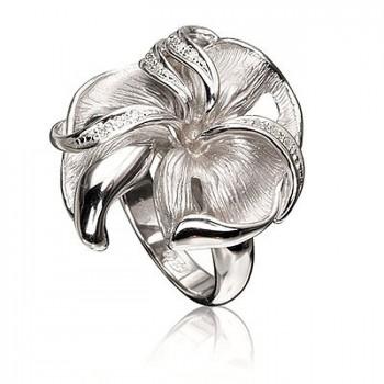 ВЕСНА кольцо из серебра с фианитами