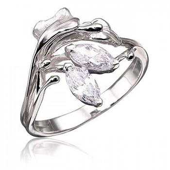 ЛУГОВАЯ ФАНТАЗИЯ кольцо из серебра с фианитами