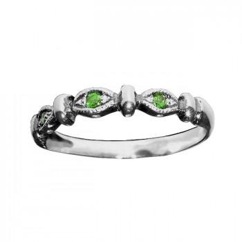 ТРИО серебряное кольцо с фианитами