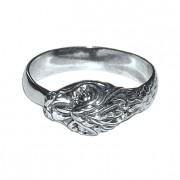 Кладдахское кольцо с камнем.  ЗМЕЙ серебряное кольцо.