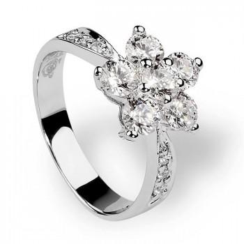 ЦВЕТИК кольцо из серебра с фианитами