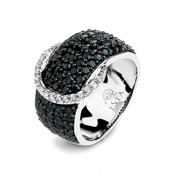 ПОЯС серебряное кольцо с фианитами