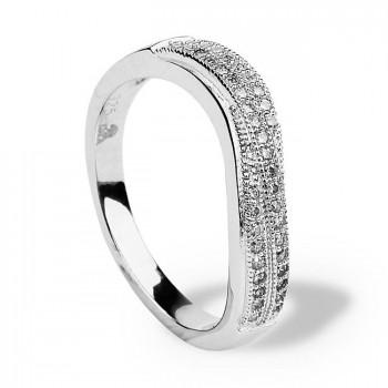 ПРАЗДНИК ВЕСНЫ кольцо из серебра с фианитами
